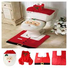 zyt toilet tank lid cover mats toilet seat cover rug bathroom set holiday new year supplies baubles decoration party