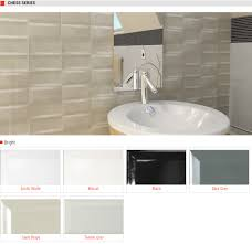 chess series gloss ceramic wall bevelled subway tiles colors artic white biscuit black