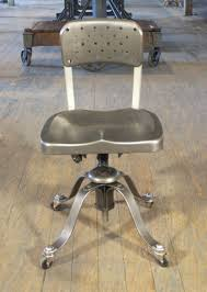 vintage industrial metal office chair metal. Vintage Metal Office Chair Industrial Steel Remington Rand Adjustable L