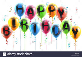 An Illustration Of Colorful Happy Birthday Balloons With