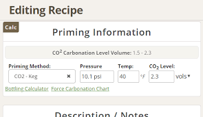 Pressurised Fermentation Carbonation Or Priming Calculator