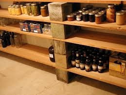 ... Shelves For Concrete Walls Grey Block Holder Square Brown Portable Rack  Strong Wooden Material Classic Design ...