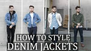 How To <b>Style</b>: The <b>Denim Jacket</b> | <b>Mens Fashion</b> Outfit Ideas ...