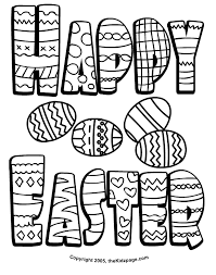 Small Picture Happy Easter Wishes Free Coloring Pages for Kids Printable