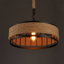 creative lighting fixtures. Exellent Lighting Vintage Pendant Lamp Loft Industrial Retro Creative Hemp Rope Hanging Light  European Style Lighting Fixture Chandelier In Fixtures F