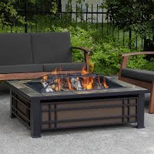 Real Flame Hamilton Steel Wood Burning Fire Pit table & Reviews