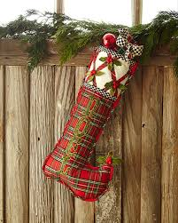 Handmade Christmas Stockings Tartan Yuletide Noel Christmas Stocking By Mackenzie Childs At