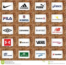 Sport Brands Top Famous Sportswear Companies Brands And Logos Editorial