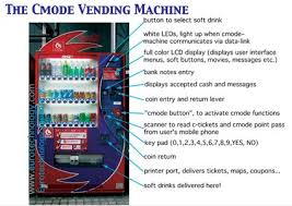 Uses Of Vending Machine Impressive A Cmode Vending Machine Allowing Use Of Electronically Held Cash