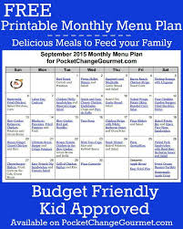 weekly meal plans on a budget printable menu plan in 2019 recipes meal planning meals menu