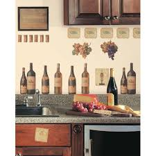 Wine Themed Kitchen Kitchen Design Glass Backsplash Wine Decorations For Kitchen