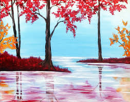 fall lake at glen lawrence golf club paint nite events