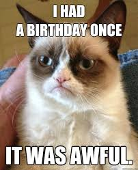 grumpy cat i had a birthday once. Wonderful Grumpy I Had A Birthday Once It Was Awful Intended Grumpy Cat Had A Quickmeme