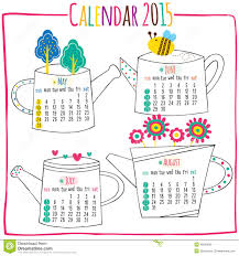Calendar 2015 May Jun July August Stock Illustration