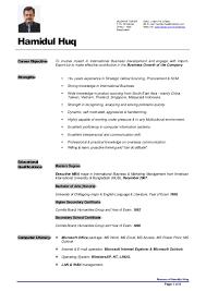 Resume Of Hamidul Huq