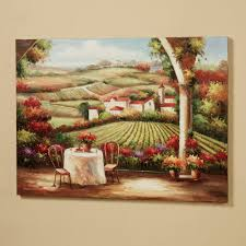 italian vineyard wall art