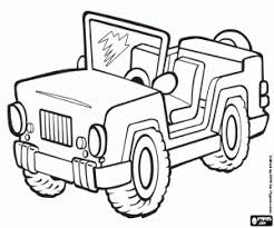 Jeep Kleurplaat