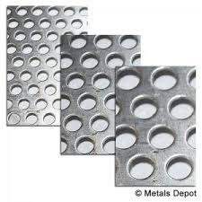 1 8 aluminum sheet metalsdepot perforated aluminum sheet