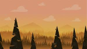 Cartoon Forest Background Game Art Partners