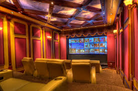 ... Luxurious Home Movie Theater Rooms : Elegant Cool Design Ideas In Home Theater  Movie Interior With ...