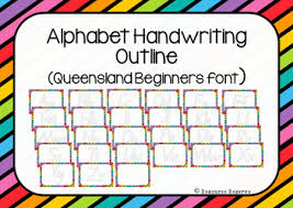 Queensland Cursive Alphabet Chart Queensland Cursive Handwriting Cards Worksheets Teaching
