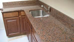 kitchen countertops maple red granite