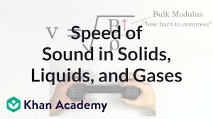 Ultrasonic Sound Velocity Chart Relative Speed Of Sound In Solids Liquids And Gases Video