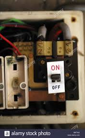 old style consumer unit electrical wire fuse box stock photo box consumer unit old style electric wire fuse on off switch isolator stock photo