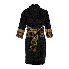 Designer Robes Sale Barocco Robe Bathrobe Black