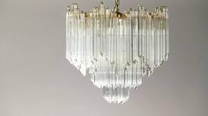 Kristall Messing Kronleuchter Von Paulo Venini Für Murano