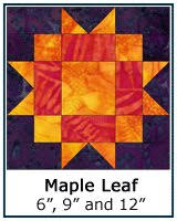 Free Quilt Block Patterns Library & ... Maple Leaf quilt block tutorial ... Adamdwight.com
