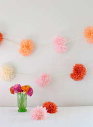 tissue paper flower garland