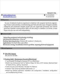 52 Resume Format Samples Sample Templates