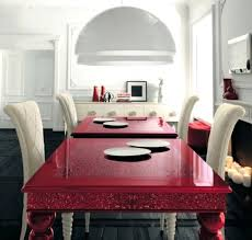 red dining room set red dining table with white high backed chairs in red dining room red dining room