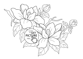 Beautiful Flowers Coloring Pages For Kids Printable Coloring Page