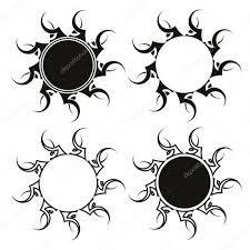 набор тату племенных солнце векторное изображение Ipetrovic