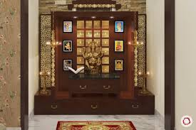 a cupboard lower than the idols can be placed against the south or west wall the scientific reason this way it will not be an obstruction to the useful