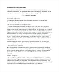 8 Non Disclosure Agreement Samples Sample Templates Employee And ...