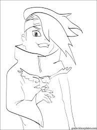Naruto Deidara Kleurplaten Gratis Kleurplaten
