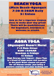 we re offering beach yoga and aqua yoga this summer in ogunquit k