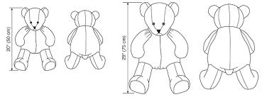 Teddy Bear Sewing Pattern Cool K48 Oversized Teddy Bears In Two Sizes Sewing Pattern Kwik Sew