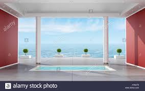 Luxus Badezimmer Mit Versenkte Badewanne In Ein Ferienhaus Mit
