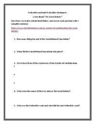 Federalists And Anti Federalists Venn Diagram Federalists Anti Federalists Webquest W Key Venn Diagram Opinion Writing