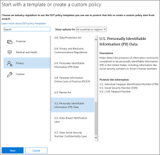 policy templates create a dlp policy from a template microsoft docs