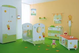 baby nursery yellow grey gender neutral. Baby Nursery : Delectable Design Ideas Using Rectangular White Motif Wooden Cribs Pertaining To The Elegant Yellow Grey Gender Neutral