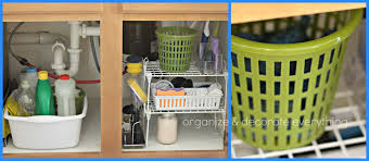 Under Kitchen Sink Organizing Organize The Kitchen With Dollar General Organize And Decorate