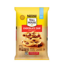 nestlÉ toll house refrigerated chocolate chip cookie bar dough