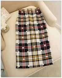 Designer Plaid Skirt Svoryxiu High End Customization Wool Blended Long Skirts