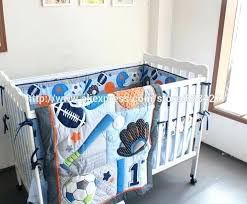 baby crib bed set 8 baby crib bedding sets baseball sports baby boy sports crib bedding