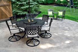 stamped and stained concrete patio in avon lake oh